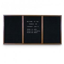 """72 x 48"""" Triple Door Standard Indoor Wood Enclosed Letterboard"""