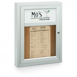 "18 x 24"" Single Door with Header Outdoor Enclosed Corkboards"