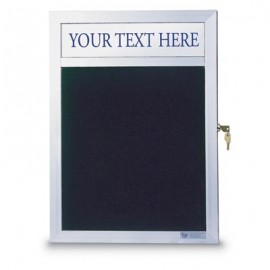 "12 x 18"" Slim Style Enclosed Letterboard w/ Header"