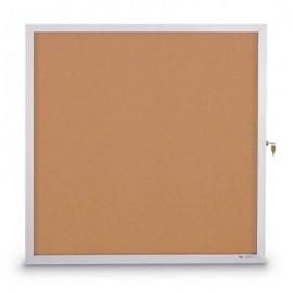 "12 x 18"" Slim Style Standard Enclosed Corkboard"