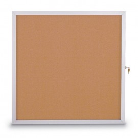 "36 X 48"" Slim Style Standard Enclosed Corkboard"