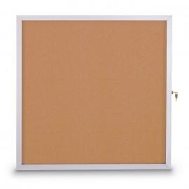 "48 X 36"" Slim Style Standard Enclosed Corkboard"