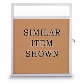 "36 x 48"" Slim Style Enclosed Corkboard w/ Header"
