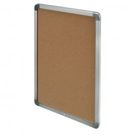 "36 x 36"" Radius and Hingeless Low Profile Corkboard"