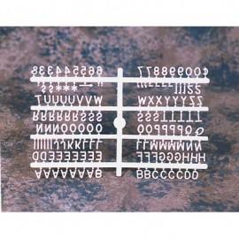 1/2 Helvetica Letter Sprue Sets