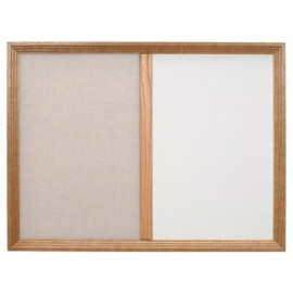 "60 x 36"" Decorative Framed Dry Erase and Cork Combo Board"