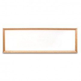 "12 x 36"" Decorative Wood Framed Dry Erase Board"