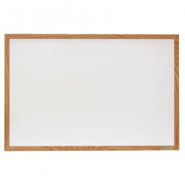 "36 x 24"" Hardwood Framed Porcelain On Steel Dry/Wet Erase Board"