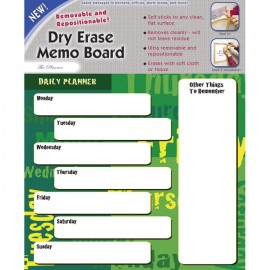 "11 x 9"" Removable/Repostionable Dry Erase Board Day Planner"