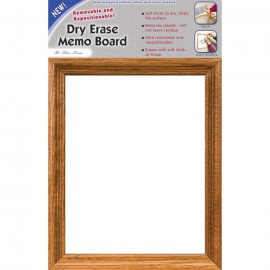 "14 x 9"" Removable/Repostionable Dry Erase Board Milan Frame"