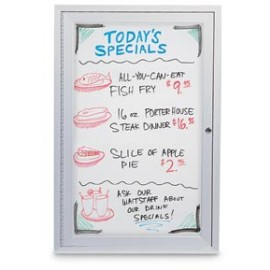 "18 x 24"" Single Door Standard Outdoor Enclosed Dry/Wet Erase Board"
