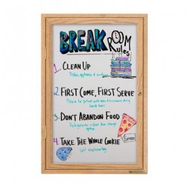 "24 x 36"" Wood Enclosed Dry/Wet Erase Boards"