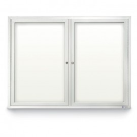 "42 x 32"" Double Door Standard Indoor Enclosed Dry/Wet Erase Board"