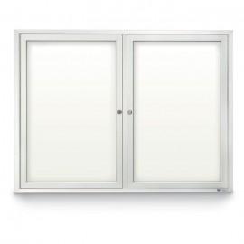 """48 x 36"""" Double Door Standard Outdoor Enclosed Dry/Wet Erase Board"""