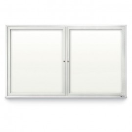 "60 x 36"" Double Door Standard Outdoor Enclosed Dry/Wet Erase Board"