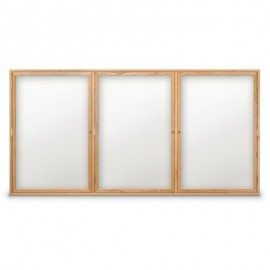 "72 x 36"" Wood Enclosed Dry/Wet Erase Boards"