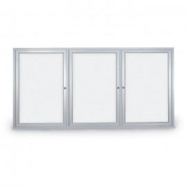 "72 x 36"" Triple Door Standard Outdoor Enclosed Dry/Wet Erase Board"