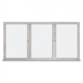 """96 x 48"""" Triple Door Standard Outdoor Enclosed Dry/Wet Erase Board"""