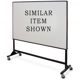 "48 x 54"" Single Sided Steel Framed Mobile Dry Erase Board"