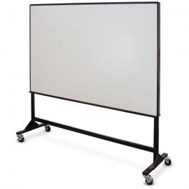 "72 x 48"" Single Sided Steel Framed Mobile Dry Erase Board"
