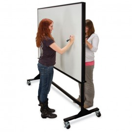 "72 x 48""(x2) Double Sided Steel Framed Mobile Dry Erase Board"