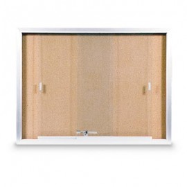 "36 x 24"" Sliding Glass Door Corkboards with Traditional Frame"