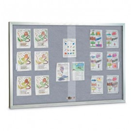 "48 x 36"" Sliding Glass Enclosed Easy Tack Boards"