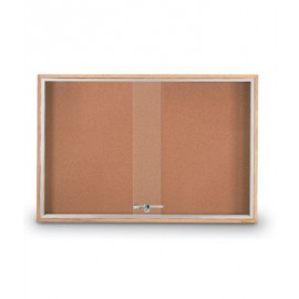 "36 x 24"" Standard Wood Sliding Door Corkboards"