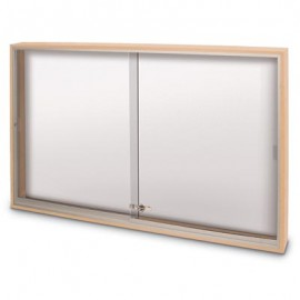 "72 x 36"" Wood Sliding Glass Dry/Wet Erase Boards"
