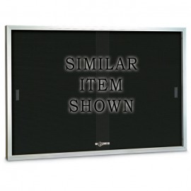 "96 x 36"" Sliding Glass Door Enclosed Letterboard"