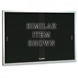 "96 x 36"" Sliding Glass Door Enclosed Letterboard"