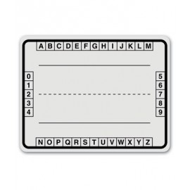 Alphabet Boxes White Dry Erase Board