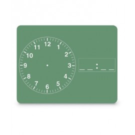Clock Green Chalkboard