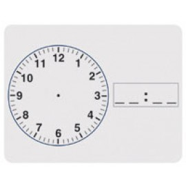 Clock White Dry Erase Board