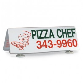 "28 x 10"" Car Top Sign w/ 1 Color Wording"
