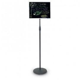 """20 x 15"""" Black Dry Erase Aluminum Frame Pedestal Board"""