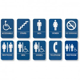 Set of all 10 ADA Complian Signs