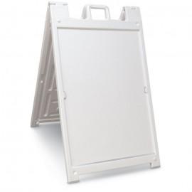 """46H x 27""""W Economy Message Board- White"""