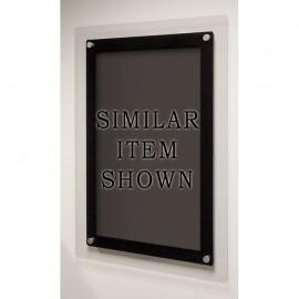 "18 x 12"" Corporate Series Black Wet Erase Board"