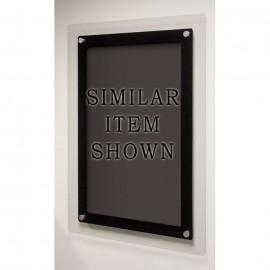 """18 x 12"""" Corporate Series Black Wet Erase Board w/ Header"""