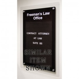 "18 x 12"" Corporate Series Magnetic Directory Board w/ Header"