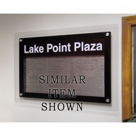 """18 x 12"""" Corporate Series Magnetic Strip Directory Board w/ Header"""