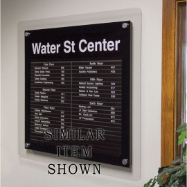 "18 x 12"" Corporate Series Extrusion Directory Board"