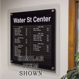 "18 x 12"" Corporate Series Extrusion Directory Board w/ Header"