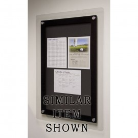 "24 x 36"" Corporate Series Tack Board w/ Header"