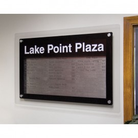 "24 x 36"" Corporate Series Magnetic Strip Directory Board"