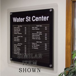 """24 x 36"""" Corporate Series Extrusion Directory Board w/ Header"""