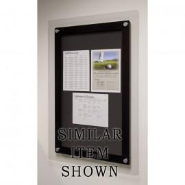 "36 x 36"" Corporate Series Tack Board w/ Header"