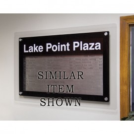 """36 x 36"""" Corporate Series Magnetic Strip Directory Board"""
