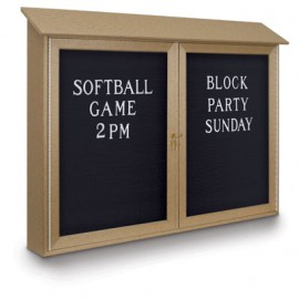 "52 x 40"" Double Door Enclosed Letterboard Message Center"